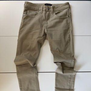 Stacked skinny khaki jeans